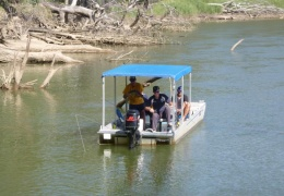 Fishing in the Murray River at Tocumwal