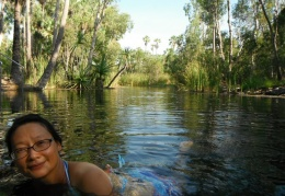Mataranka Hot Springs in Elsey National Park