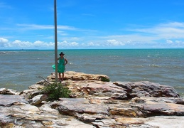 East Point Darwin Rocksitters Point and flag